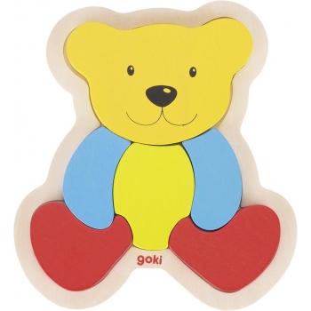 Puzzle 1er age en bois-ours