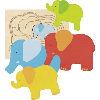 Puzzle à couches-éléphant