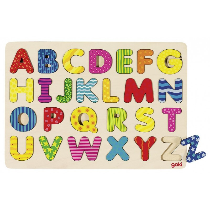 Puzzle- Apprendre l'alphabet| BAMBIN BOIS