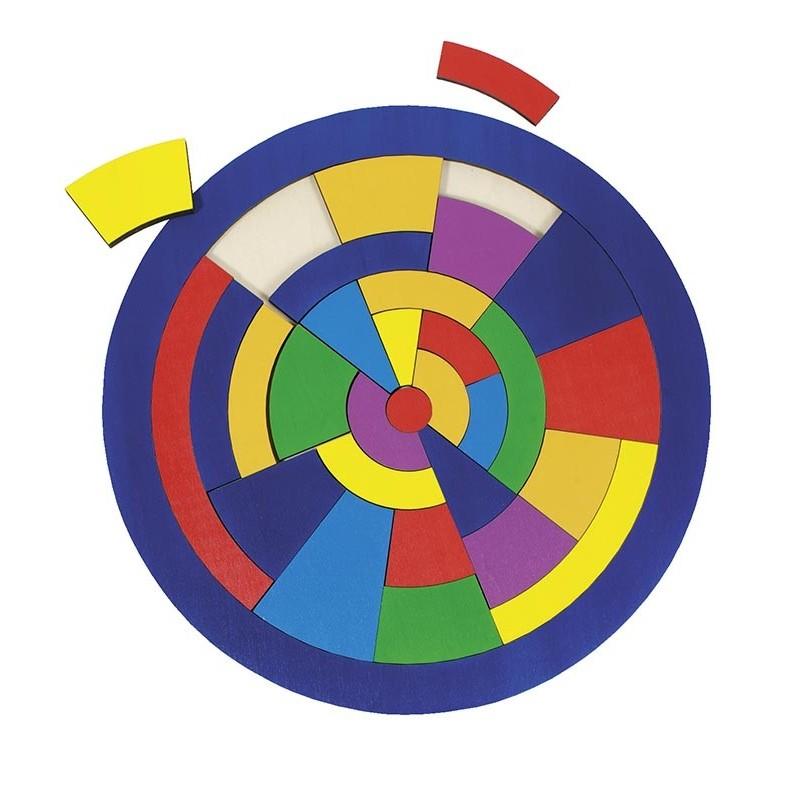 Puzzle bois-Cercle| BAMBIN BOIS
