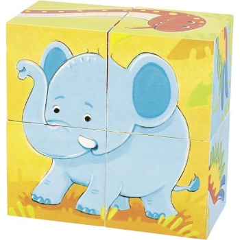 Puzzle de cubes-animaux...