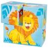 Puzzle de cubes-animaux sauvages| BAMBIN BOIS