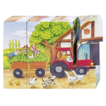 Puzzle de cubes-les saisons...