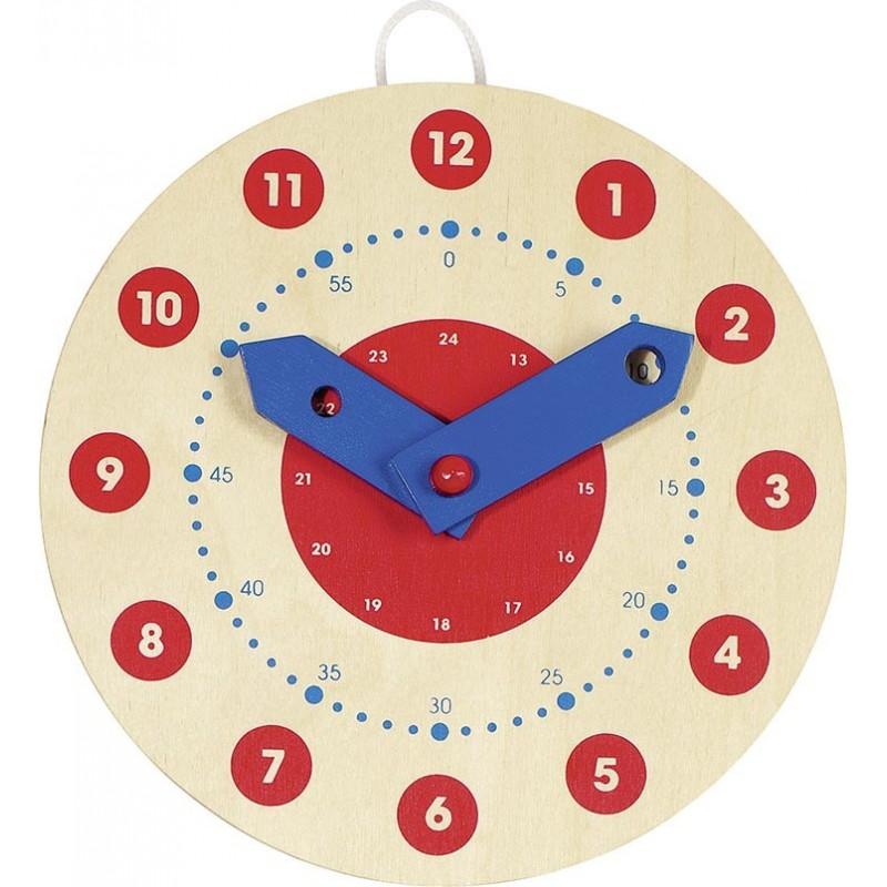 Horloge pour apprendre à lire l'heure | Jeux éducatifs en bois - BambinBois