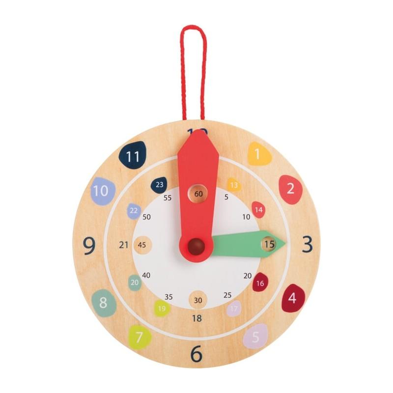 Horloge apprentissage heure-Chambre d´enfant et accessoires en bois | BambinBois