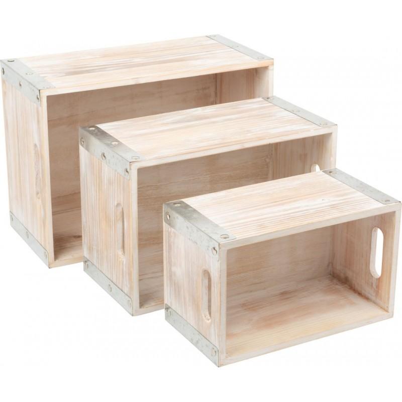 Caisse en bois Style Industriel-Décoration et cadeaux en bois | BambinBois