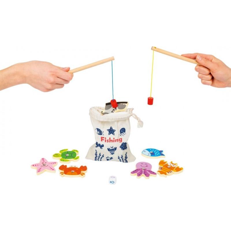 Pêche au poisson - Jeu de voyage enfant-Jeux-Jeux de société en bois | BambinBois