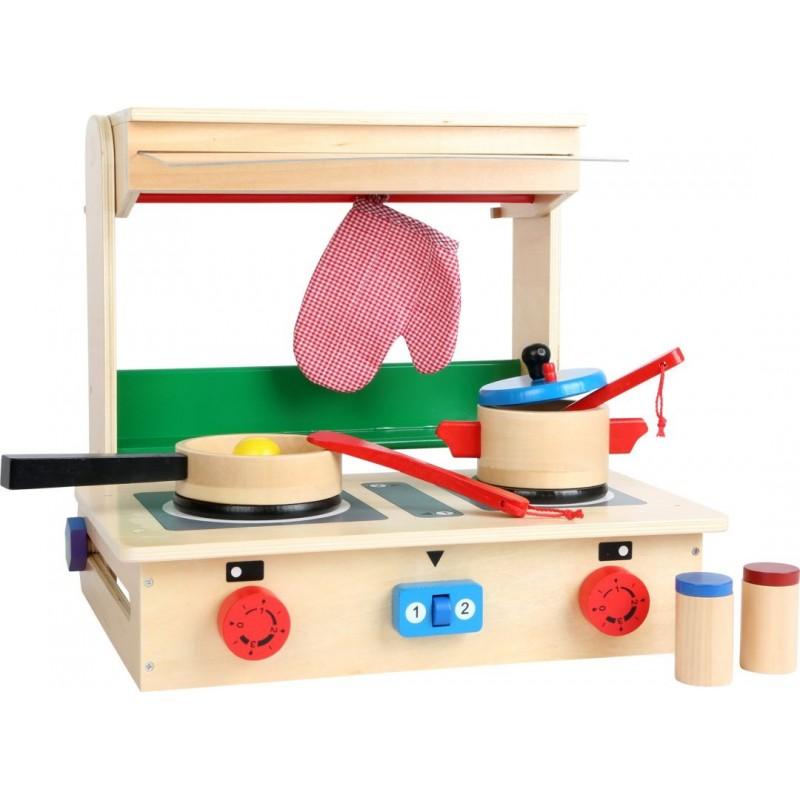 Cuisine pour enfants - valise-Jeux de rôles-Dans la cuisine en bois | BambinBois