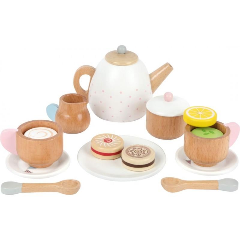Service à thé - dinette en bois-Jeux de rôles-Pique-nique en bois | BambinBois