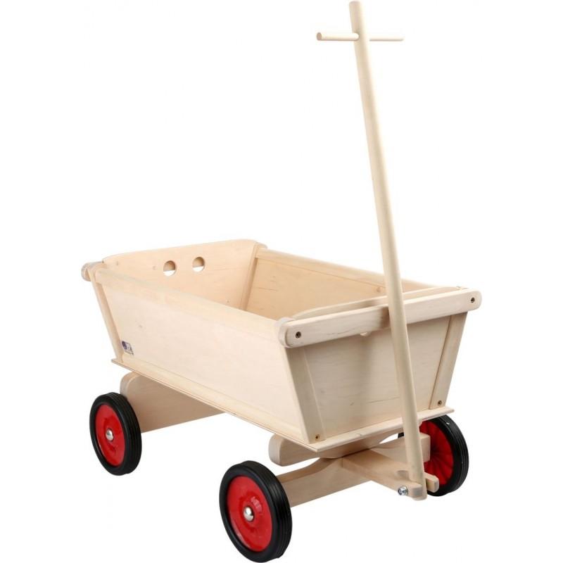 Chariot pour enfants «Nature»-Jouets de plein air et de mouvement-Chariots en bois | BambinBois