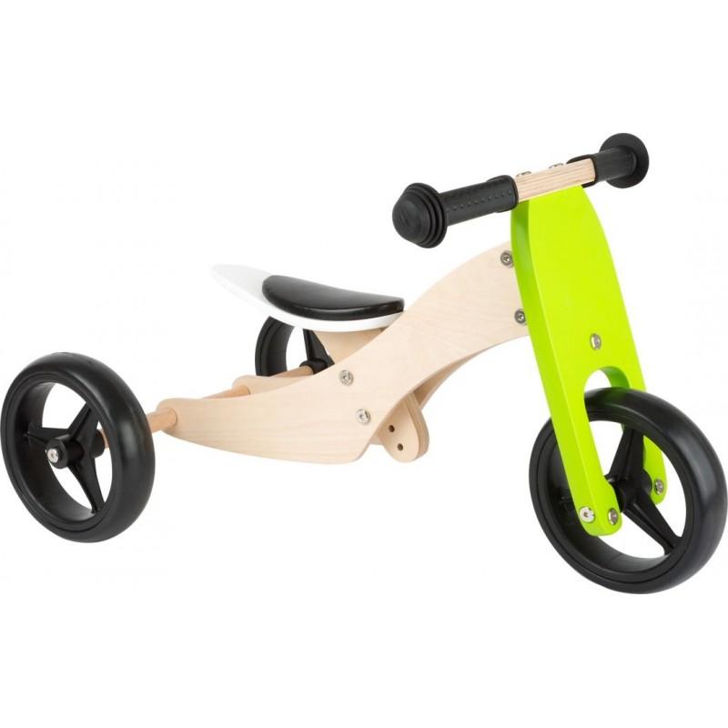 Tricycle-Draisienne Trike 2 en 1 Vert-Jouets de plein air et de mouvement en bois | BambinBois