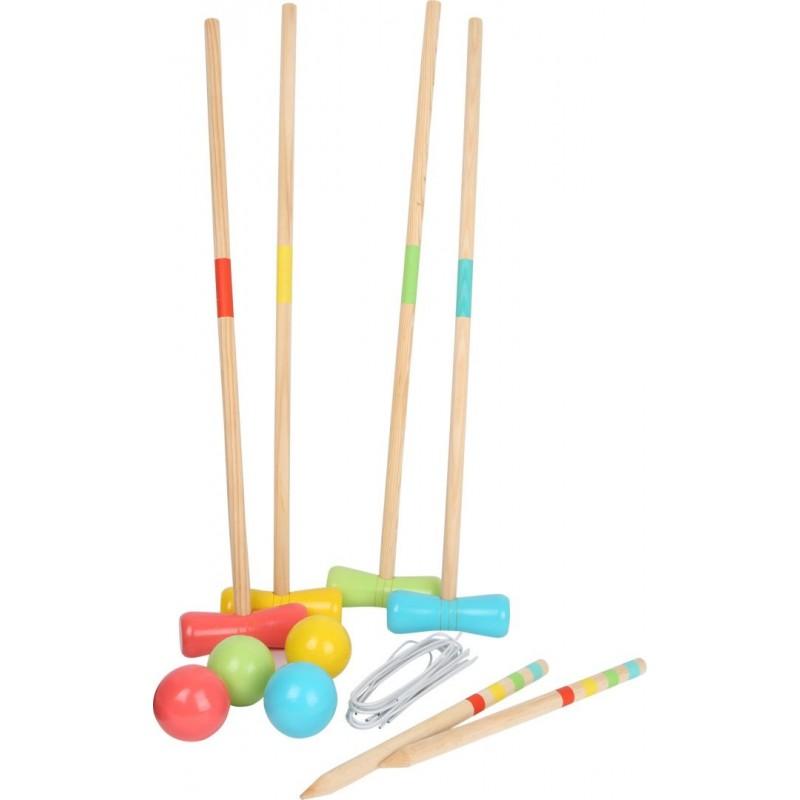 Croquet en bois-Jouets de plein air et de mouvement-Jeux de plen air en bois   BambinBois