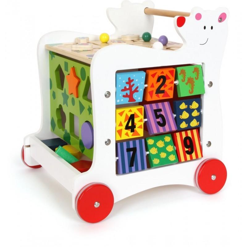 Chariot de marche - Ours-Jouets pour bébé-Chariots de marche en bois   BambinBois