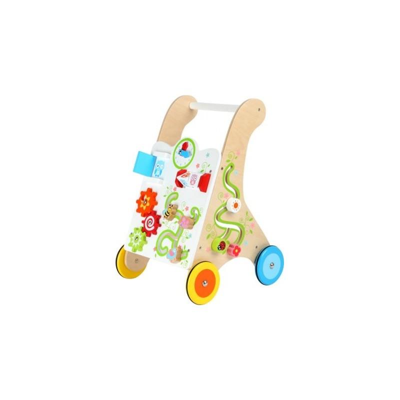 Chariot de marche Multicolore-Motricité et apprentissage-Chariots de marche en bois | BambinBois