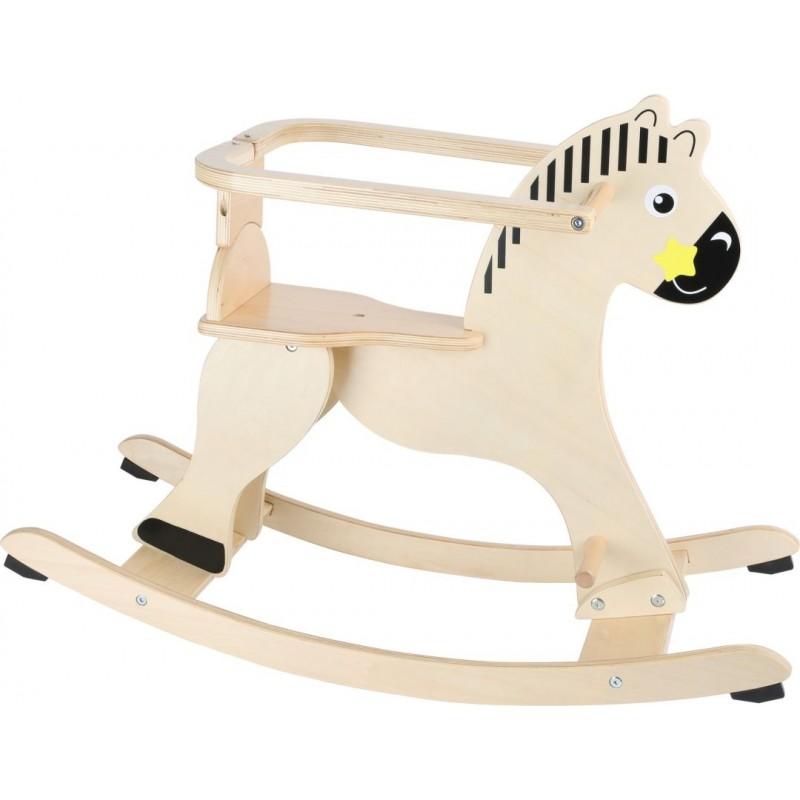 Cheval à bascule en bois avec anneau de sécurité-Motricité et apprentissage-Chevaux à bascule en bois | BambinBois