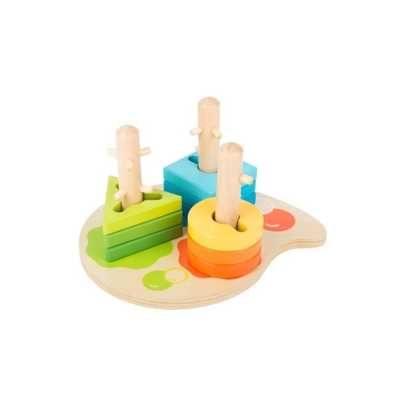 Jouet de motricité Formes et couleurs-Motricité et apprentissage-Jouets à encastrer en bois | BambinBois